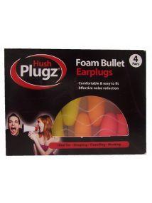 HUSH Plugs Foam Bullet Earplugs