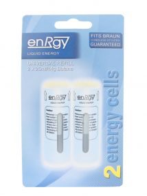 Blue Gas Refill Replacement Energy Braun Cordless Stylers 2 x 25ml Butane Large