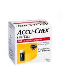 Accu-chek fastclix lancets, pack of 204