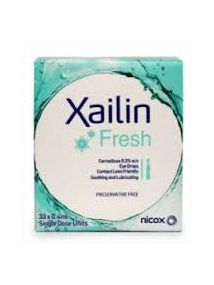 Xailin fresh eye drops 0.5% pack of 30 unit dose vials