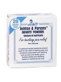 Ashton & Parsons infants powders for teething pain relief x 20