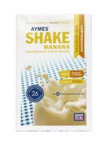 Aymes Powdered shake sachets banana 7X57g