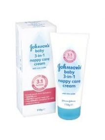 Johnsons baby 3 in 1 nappy care cream 110g