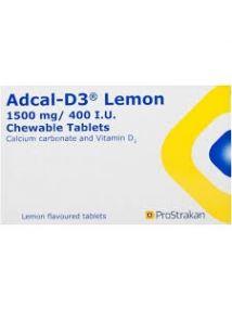 Adcal D3 Chewable Tablets, pack of 56, lemon flavour