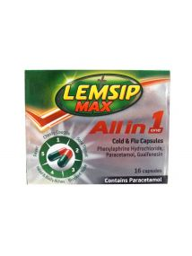 Lemsip Max All In One Cold and Flu 16 Capsules
