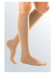 Duomed Soft Class 2 below knee closed toe sand colour medium size