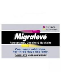 Migraleve Complete Migraine Relief 8 Pink and 4 Yellow Tablets