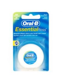 Oral B Dental Floss Essential Floss Mint Waxed 50m