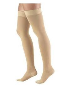 Altiform compression hosiery Class 1 thigh length closed toe beige large size