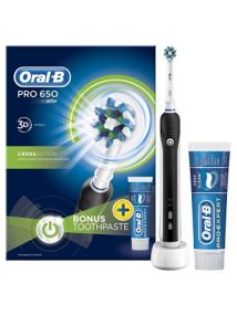Oral B Pro 650 Electric Toothbrush + FREE Toothpaste