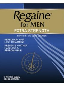 Regaine For Men Extra Strength 60ml x 3 Pack