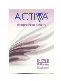 Activa compression hosiery class 1 thigh length closed toe black medium size