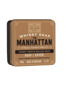 The Scottish Fine Soaps Whisky Soap MANHATTEN Soap in a TIN 100G