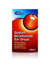 Sodium Bicarbonate Ear Drops 10ml care brand to soften ear wax