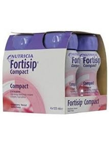 Fortisip Compact Feeding Supplement strawberry 125ml 4 Pack