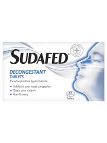 Sudafed Decongestant 12 Tablets