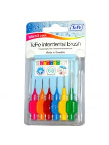 TePe Interdental Brushes Mixed Pack of 6