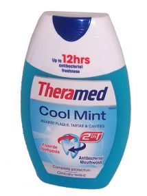 Theramed 2in1 Toothpaste & Mouthwash Cool Mint 75ml