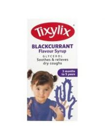 Tixylix Blackcurrant Flavour Syrup Dry Cough 100ml