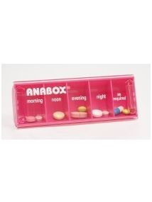 Anabox daily pillbox pink colour