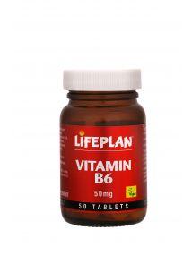 Lifeplan Vitamin B6 50mg 50 Tablets