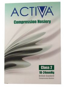Activa Compression Hosiery Class 2 Below Knee Closed Toe Black Small size