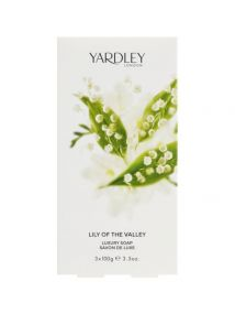Yardley Lily of the Valley Soap Set 3x100g