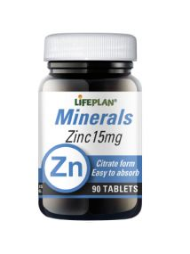 Lifeplan Zinc Citrate 15mg 90 Tablets